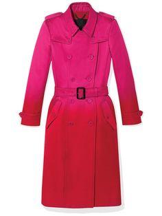 Burberry Prorsum silk satin trench coat