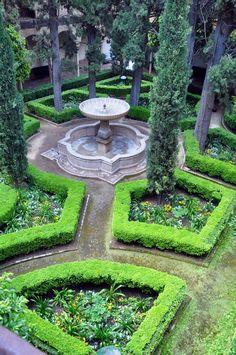 Jardin des Palais Nasrides de l'Alhambra