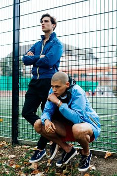 Nick @ Milk Wears K-Way jacket, Villain trousers and Superga footwear, Francesco @ First Wears Umbro Pro Training clothing, K-Way jacket and Superga footwear.