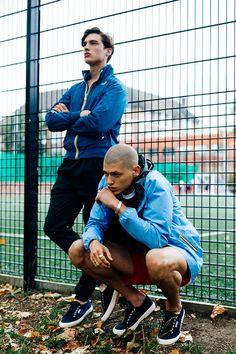 Nick @ Milk Wears K-Way jacket, Villain trousers and Superga footwear, Francesco @ First Wears Umbro Pro Training clothing, K-Way jacket and Superga footwear.