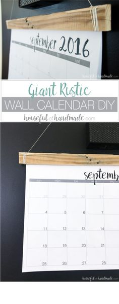 Diy wall calendar everything is behind plexi so you can clean it this is a great idea for my command center make a diy giant rustic wall solutioingenieria Image collections