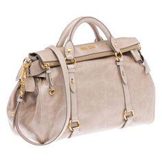 Miu Miu - Shiny Calf Top Handle Mini Bag