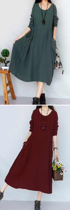 [Newchic Online Shopping] 45%OFF Gracila Vintage Maxi Dresses