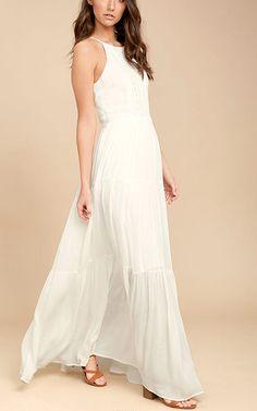 For Life White Embroidered Maxi Dress via @bestfashionhq