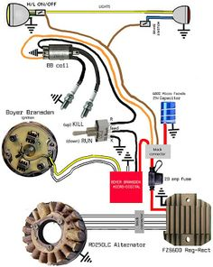 Wiring diagram for Royal Enfield Bullet Electric Start