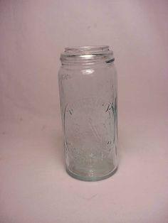c1880s Woodbury Sterilizer Tall Half Pint Aqua by Bottlessoldcheap, $60.00