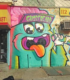 By Ghostbeard  @ghostbeard    Street art work in Brooklyn, New York City. Graffiti is widespread - with many murals, wheatpastes and stencils.