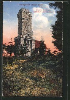 Alte Ansichtskarte: AK Hornisgrinde, Neuer Turm