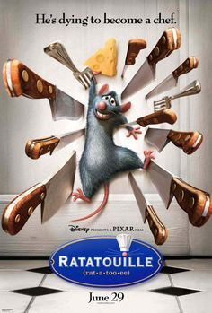 Ratatouille night with pasta dishes and dining table set up like a restaurant with menu's,  napkins, candles etc