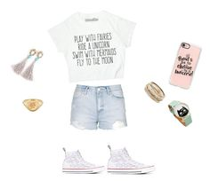 """""""Fantasy"""" by shravania on Polyvore featuring Casetify, Converse, Kendra Scott and Topshop"""