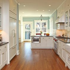 Open Galley Kitchen Designs the original old dark galley kitchen was blocked off from the