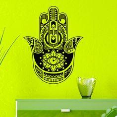 Wall Vinyl Decals Yoga Vibes Fatima Hand Hamsa от WisdomDecals