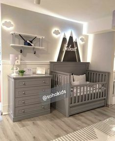 Baby Nursery Diy, Nursery Room, Gray Nursery Boy, Nursery Ideas, Room Ideas, Bedroom, Baby Room Themes, Baby Boy Rooms, Baby Room Decor