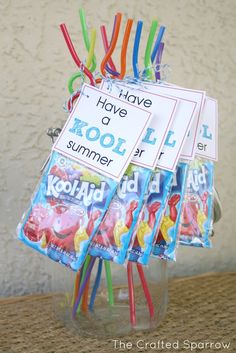 End of Year Goodbye Gift for Classmates...could use the kool aide jammers too