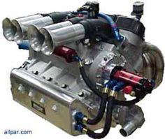 Midget racing engine