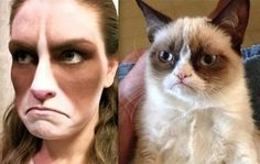 Grumpy Cat Cosplay; via Fashionably Geek (http://fashionablygeek.com/costumes/grumpy-cat-cosplay/#!oRFoF).  In search of credits.