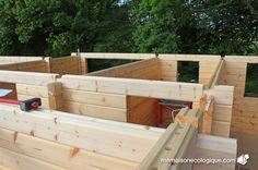 Maison bois : le rez-de-chaussée se termine