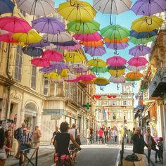 Arles France - by @vilay78 #umbrellas #rainiscool #rain by lengerparis