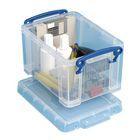 Really Useful Box Stapelbare Aufbewahrungsbox Durchsichtig 1,6l 195x135x110mm