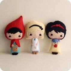 li'l red, alice and snow white