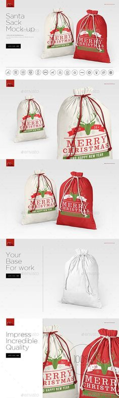 Santa Sack Mockup — Photoshop PSD #xmas #sublimation • Available here → https://graphicriver.net/item/santa-sack-mockup/18248696?ref=pxcr