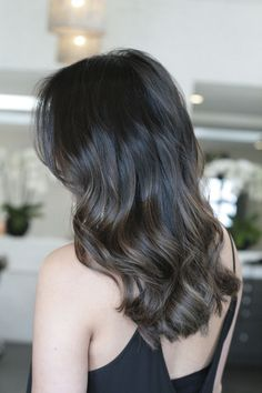 Long Wavy Ash-Brown Balayage - 20 Light Brown Hair Color Ideas for Your New Look - The Trending Hairstyle Ash Brown Hair Color, Light Brown Hair, Hair Colour, Dark Ash Brown Hair, Cool Brown Hair, Brown Hair Balayage, Ombre Hair, Ash Brown Bayalage, Lob Ombre