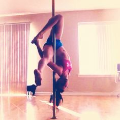 Outside leg hand variation - if she would have grabbed her other foot it would've been a Gemini heel stretch