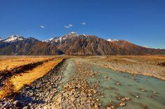 The Hooker River, Tasman Valley   Aoraki National Park, New Zealand  #mountain #river #nz #tasman #aoraki #nikon #photography