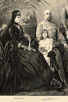 Elisabeth, Franz Joseph en Marie Valerie.