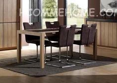Table de salle à manger contemporaine EBENE