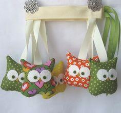 Super cute stuffed owl garland