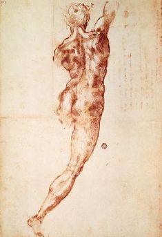 Michelangelo (Buonarroti) - Rückenakt