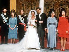 Prinz Felipe, Königin Sofia, König Juan Carlos, hochzeitspaar, Gräfin von Ripalda, Infantin Cristina