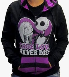 Nightmare Before Christmas - True Love Hoodie from http://www.catacombscds.com/product/Nightmare_Before_Christmas_-_True_Love_Hoodie.html