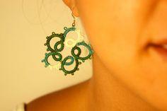 Orecchini verdi / orecchini chiacchierino / gioielli di clode83