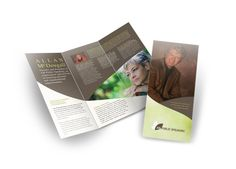 trifold brochure design for humiverde an organic