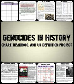 This is a fantastic lesson plan on genocides in history that incorporates Common Core strategies, cooperative learning, and higher-level thinking. Includes 6 one page readings on genocides (the Armenian genocide, the Holocaust, Stalin's Great Purge, Cambodia, Rwanda, and Darfur) along with a chart. Students then analyze the UN definition of genocide and work together to create a new one and apply it to one of the genocides they read about.