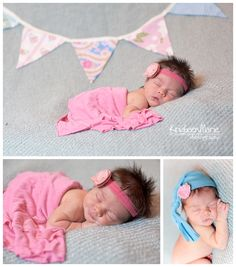 Teal and Pink - Newborn Photography
