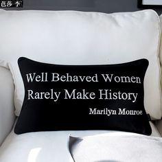 Table & Sofa Linens Aspiring Marilyn Monroe Cushion Cover Almofada Decorative Pillows Coussin Para El Hogar Decoracion Linen Animal Throw Car Pillow Cover Yet Not Vulgar Cushion Cover