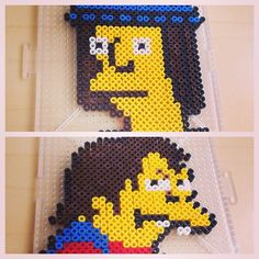 Jimbo Jones and Nelson - The Simpsons perler beads by smargetts