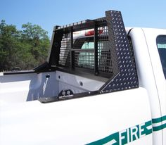 Pickup truck headache rack built by Highway Products.