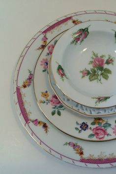 Mismatch China Dinner Plates Blue Floral Country Vintage Shabby Chic Mixed | China Chix Mix and Match | Pinterest | vintage China Pansies and Mismatched ... & Mismatch China Dinner Plates Blue Floral Country Vintage Shabby Chic ...