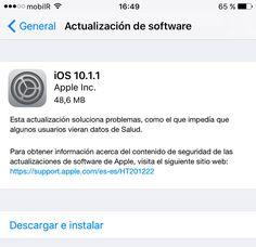 Apple lanza iOS 10.1.1 para corregir un bug de la app Salud