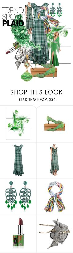 """""""colour mint"""" by angelicamarcella ❤ liked on Polyvore featuring Rosie Assoulin, Anna e Alex, Christian Lacroix, Clinique, contestentry and NYFWPlaid"""