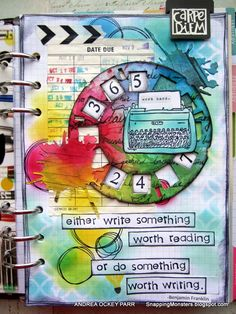 I decided to go with a brand new 2016 planner for this week's Something New theme over at the Simon Says Stamp Monday Challenge Blog . An...