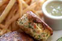 Etta's in Seattle, another Tom Douglas restaurant. Great crab cakes and french fries on the waterfront.
