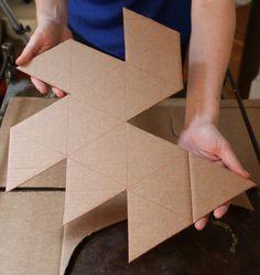 Plantilla geométrica del molde de hormigón                              …