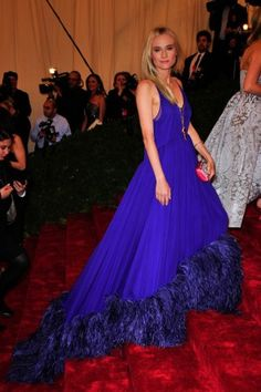 Our best dressed at The Met ball, including Diane Kruger in cobalt Prada.