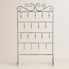 Jewelry stand with hooks