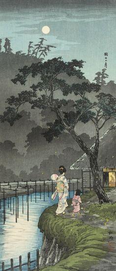 "ollebosse: ""  Sekiguchi in Evening Takahashi Shōtei (Hiroaki) (Japan, 1871-1945) """